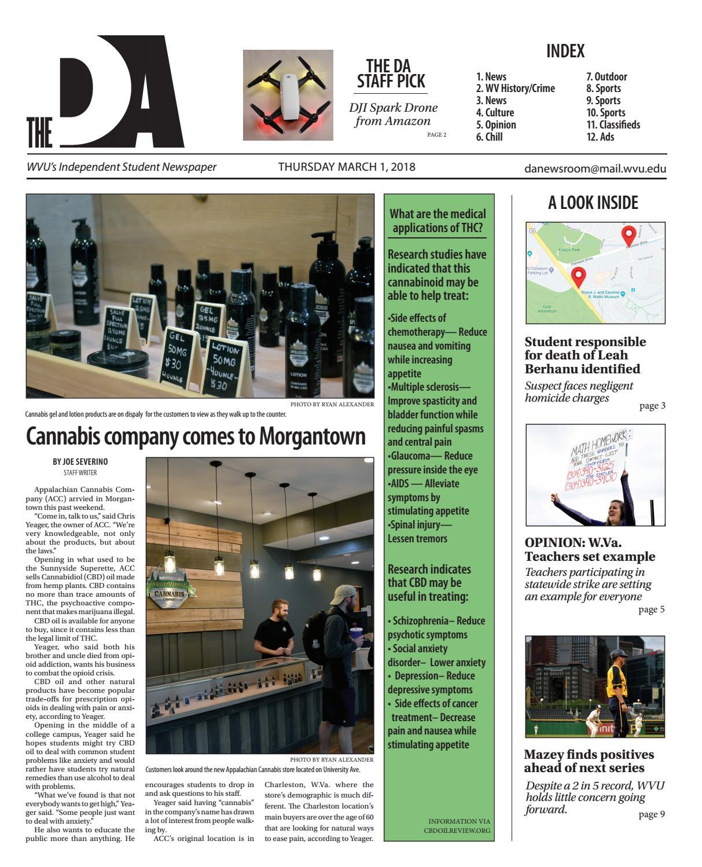 DA 03-01-18 by The Daily Athenaeum - issuu