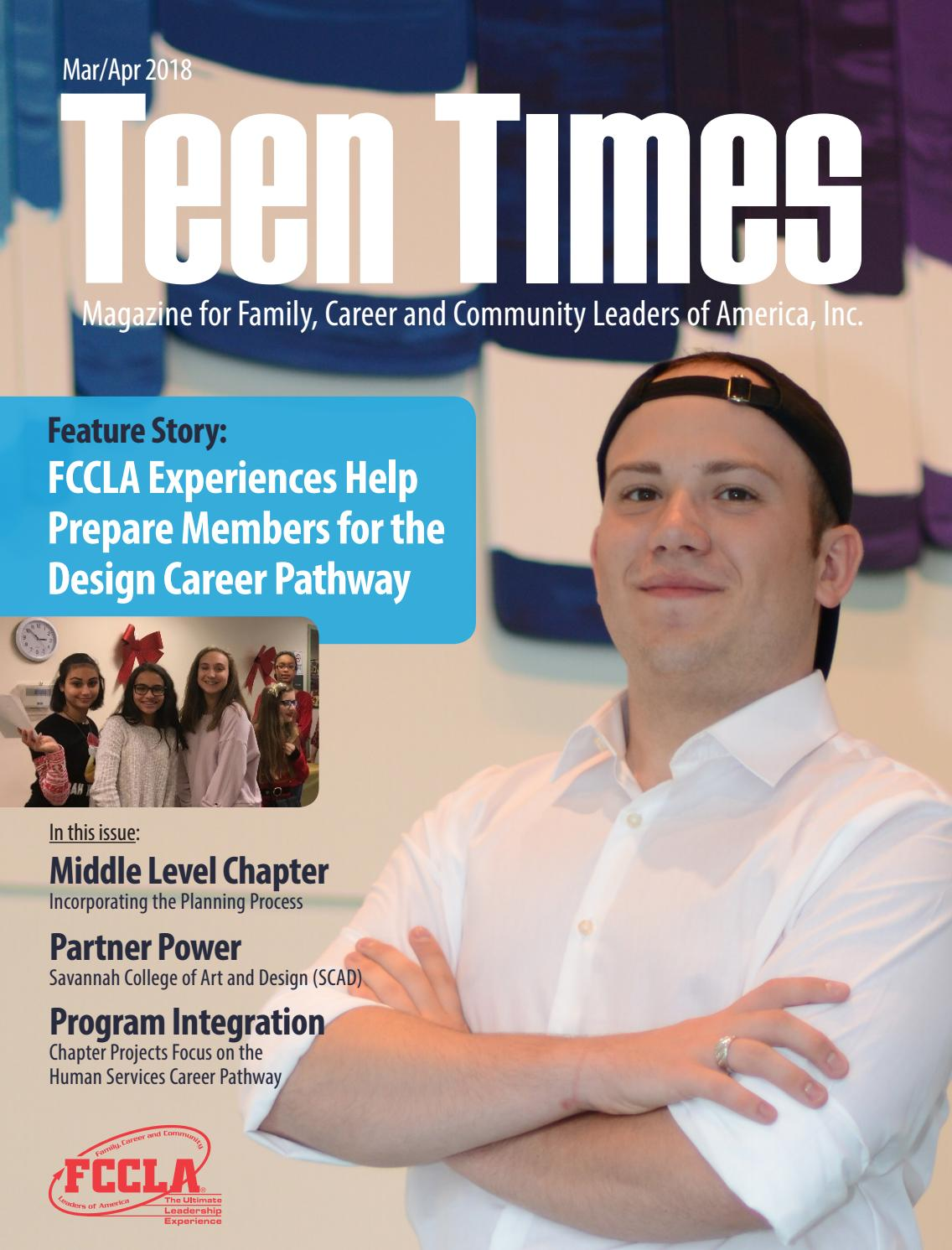 Teen Times March April 2018 By Fccla Issuu