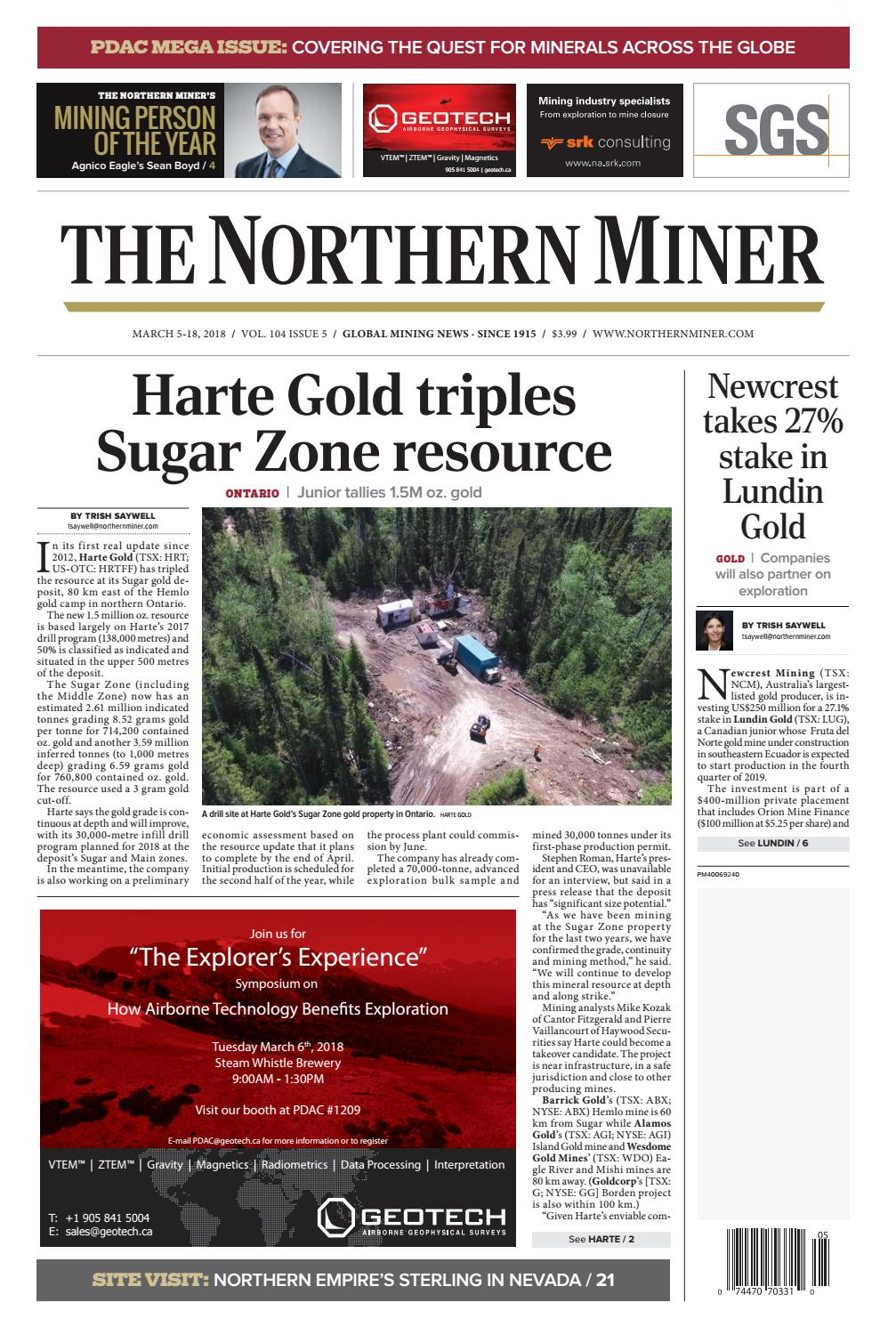 The Northern Miner March 5 2018 Issue By The Northern Miner Group