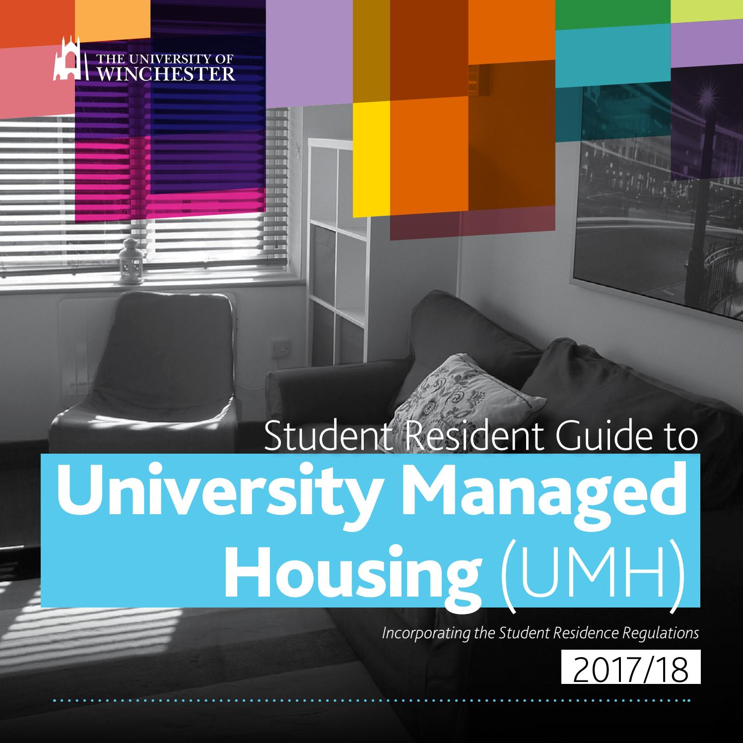 Student Resident Guide to University Managed Housing (including the ...