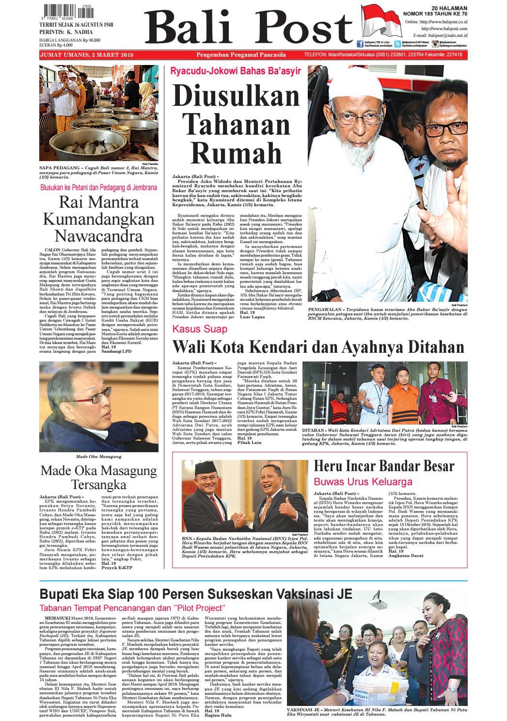 Edisi 02 Maret 2019 Balipostcom By E Paper KMB Issuu