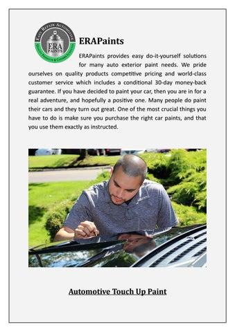 Auto Touch Up Paint >> Best Automotive Touch Up Paint Erapaints By Era Automotive