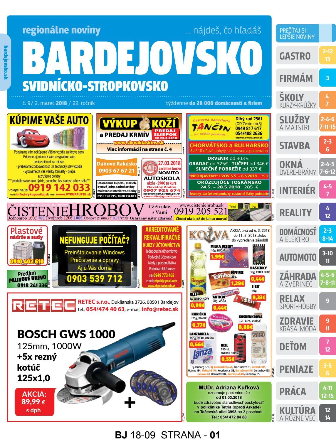 a49e845acd Bj1809 by REGIONPRESS - Bardejovsko - issuu