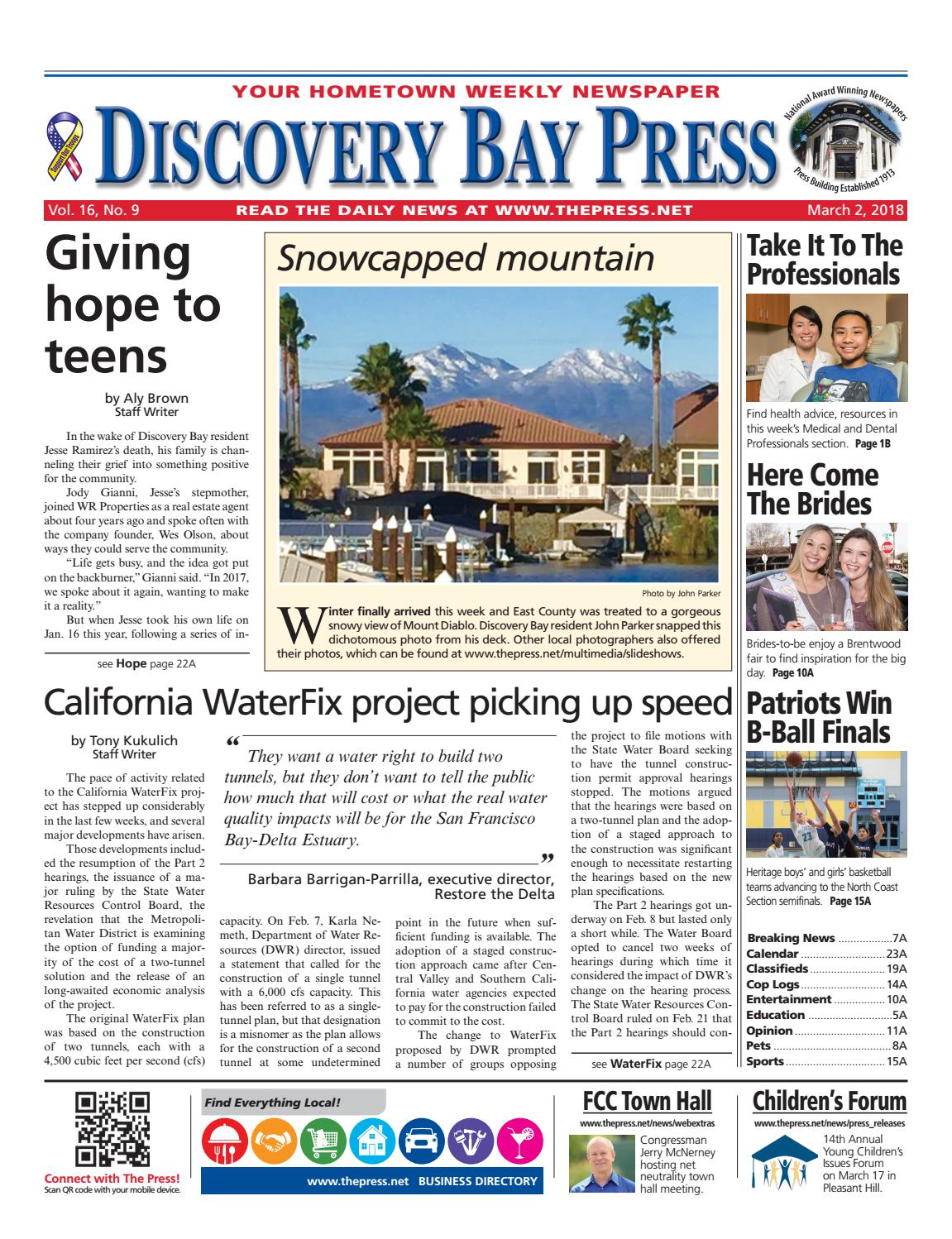Discovery Bay Press 03 02 18 By Brentwood Press Publishing Issuu