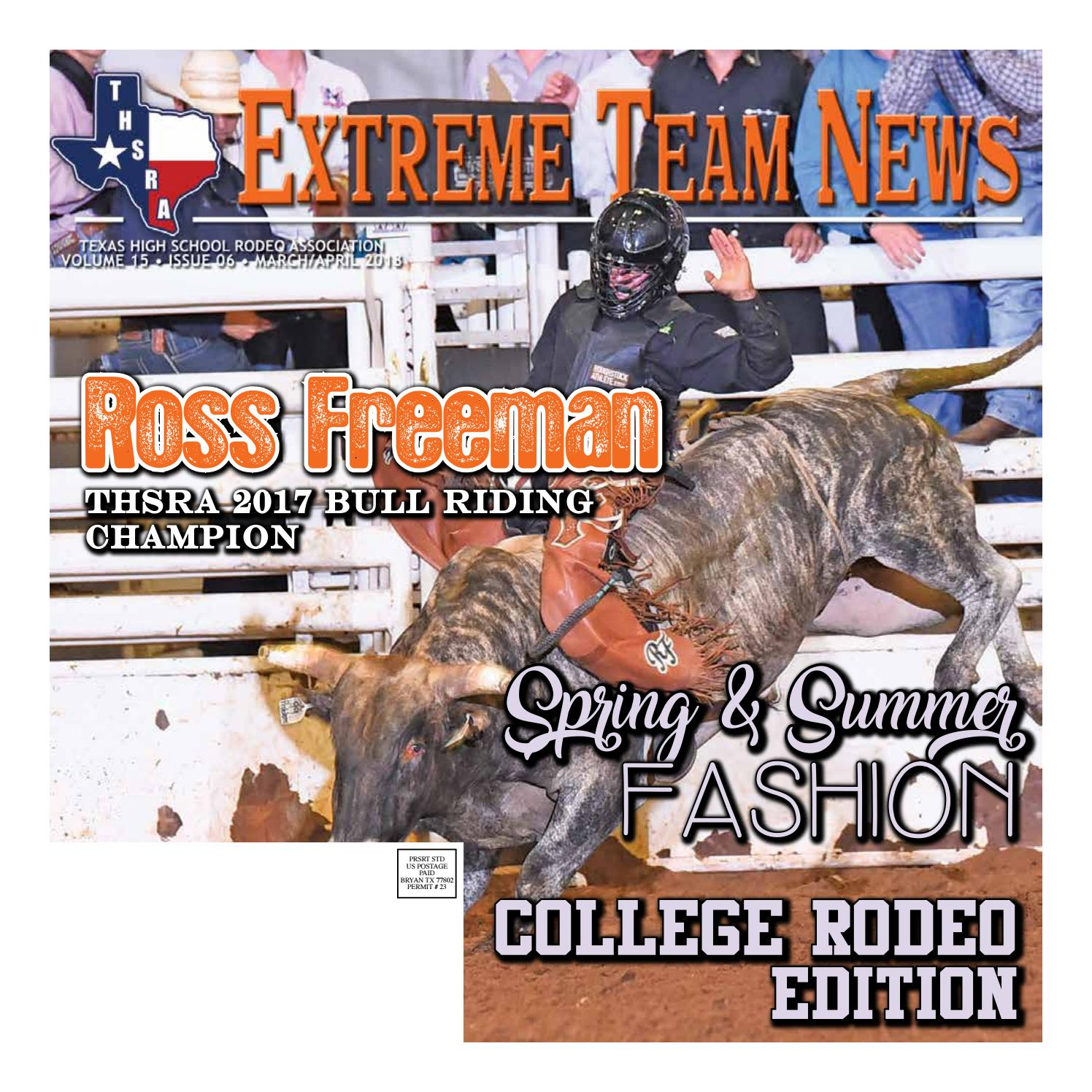 c0cafb596 Extreme Team News - March/April 2018 by Texas High School Rodeo ...