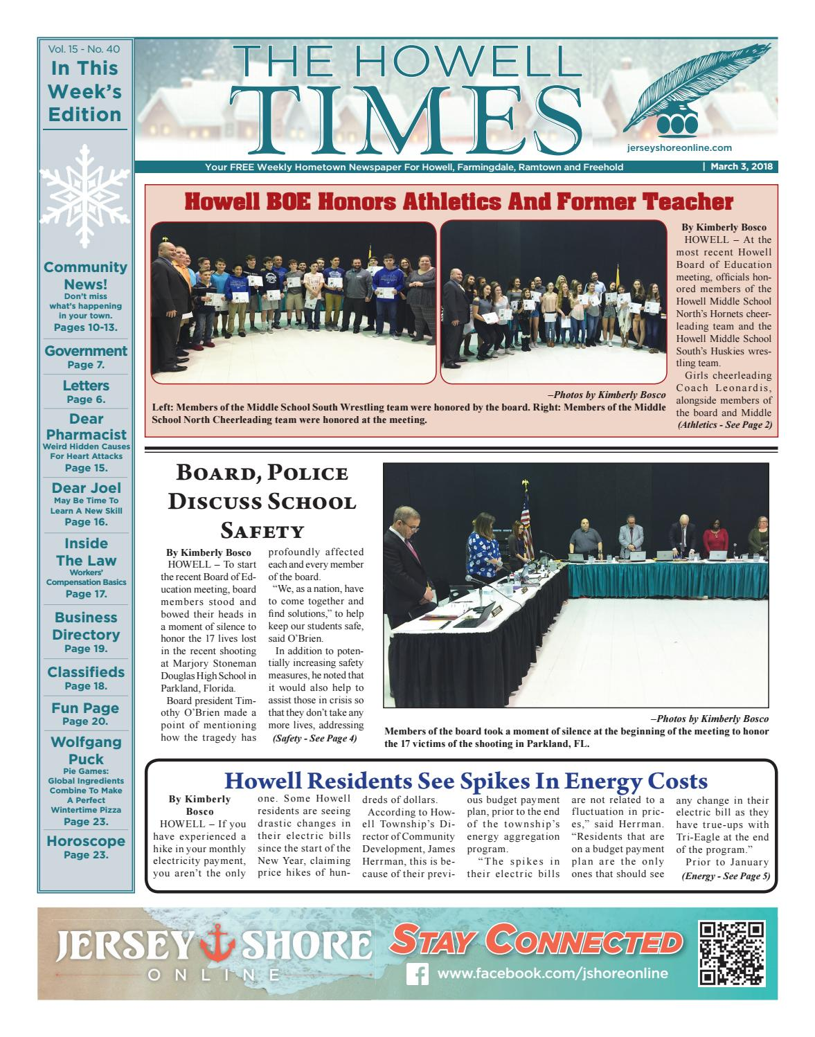 26170ca3cab8 2018-03-03 - The Howell Times by Micromedia Publications/Jersey Shore  Online - issuu
