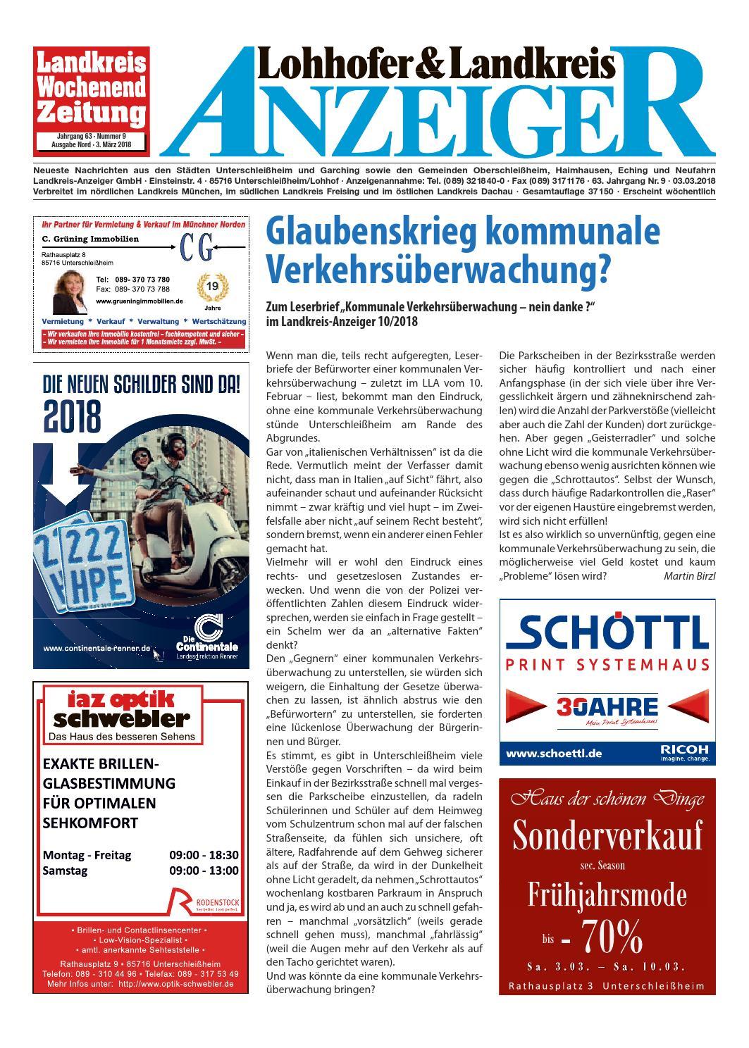 Lohhofer & Landkreis Anzeiger 0918 by Zimmermann GmbH Druck & Verlag - issuu
