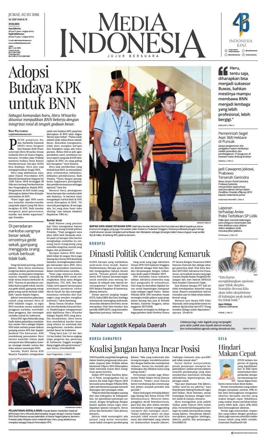 Media Indonesia 02 03 2018 02032018024922 By Oppah Issuu Produk Ukm Bumn Suscho Sus Coklat Surabaya