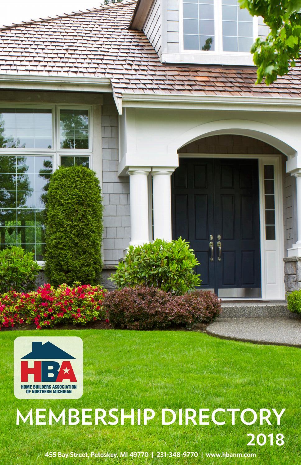 Home Builders Association of Northern Michigan 2018 Membership