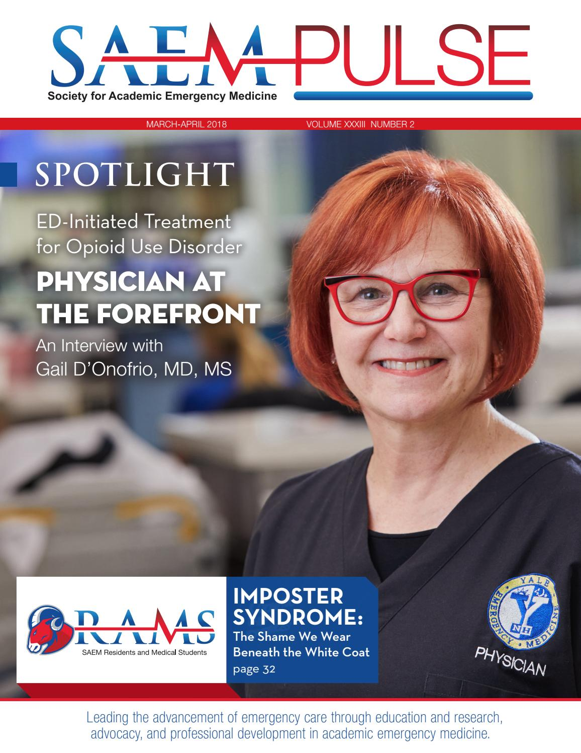 SAEM PULSE March–April 2018 by Society for Academic Emergency Medicine -  issuu