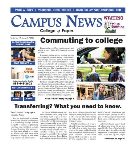 The March 2018 issue of Campus News is here! Commuters of the world