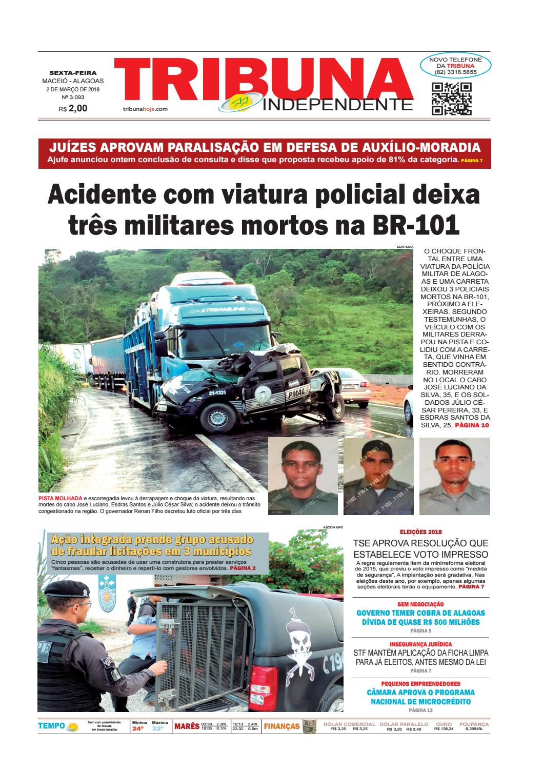 Edição número 3094 - 2 de março de 2018 by Tribuna Hoje - issuu 33b77626ce