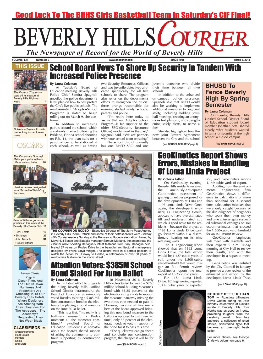 BHCourier E Edition 030218 By The Beverly Hills Courier   Issuu