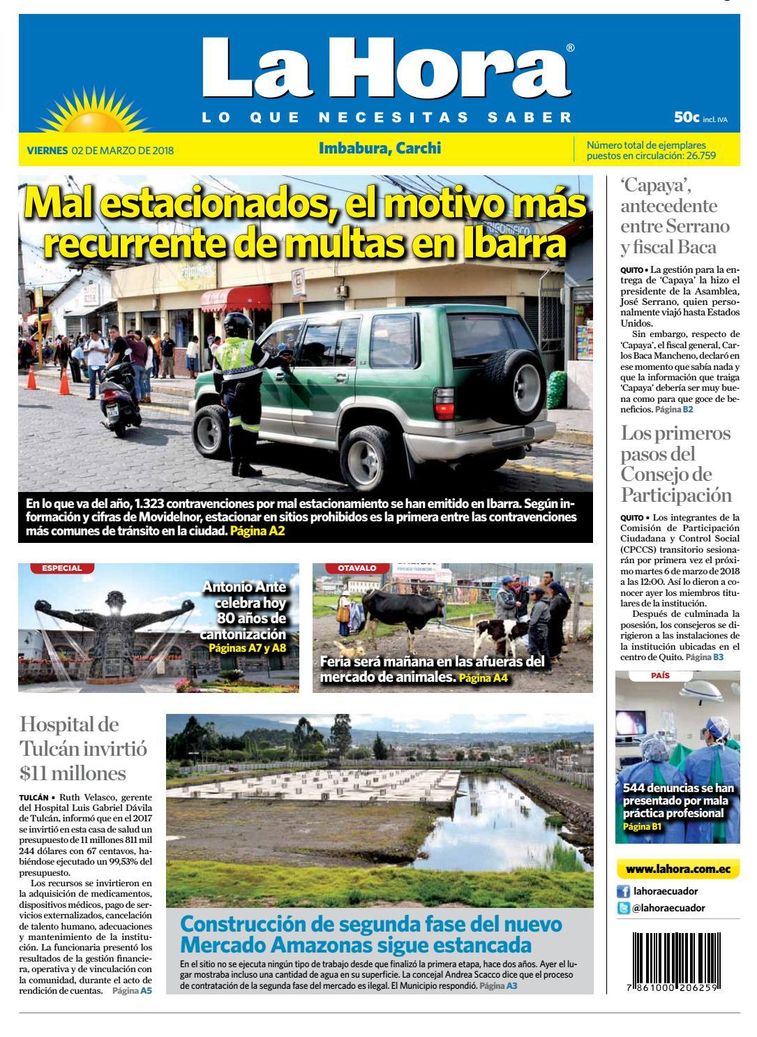 Imbabura 02 de marzo de 2018 by Diario La Hora Ecuador - issuu