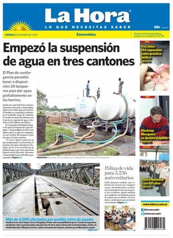 Esmeraldas 02 de marzo de 2018 by Diario La Hora Ecuador - issuu 38442f3f604