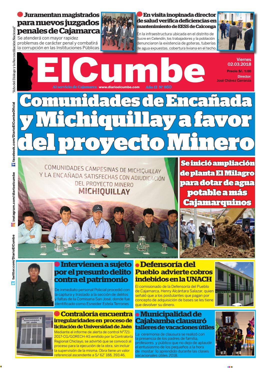 Diario el cumbe 02 03 2018 by Diario El Cumbe - issuu