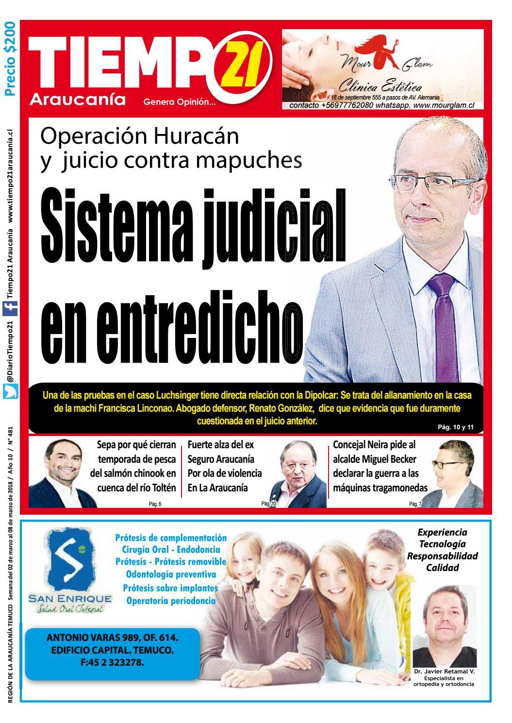 Edici N 481 Operaci N Hurac N Y Juicio Contra Mapuches Sistema  # Muebles Jouannet Temuco