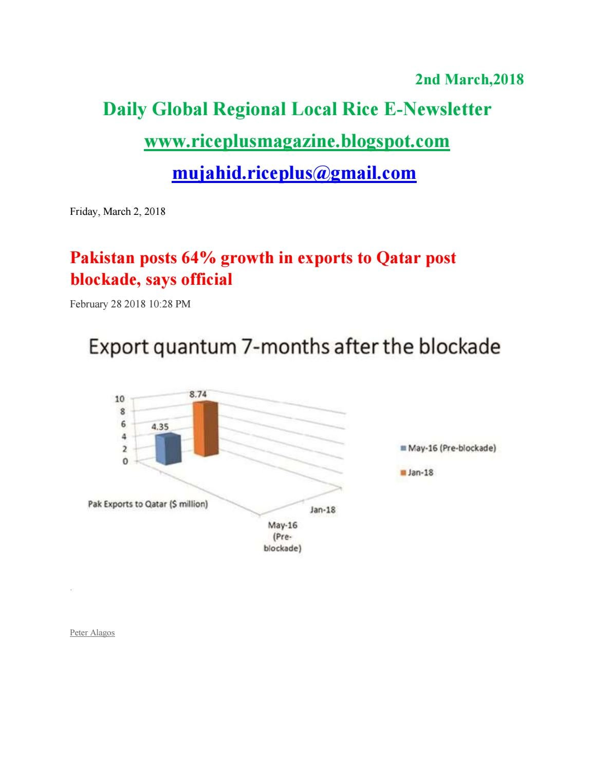 2nd march,2018 daily global regional local rice e newsletter