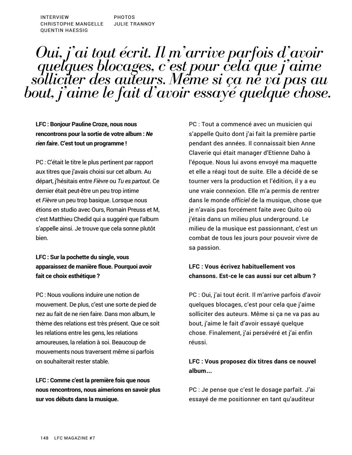 Lfc Magazine 7 Arnaud Valois Mars 2018 By La Fringale Culturelle