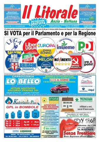 Il Litorale Anno 1 XVIII N. 5 1 Anno 15 Marzo 2018 by Il Pontino Il   e14198