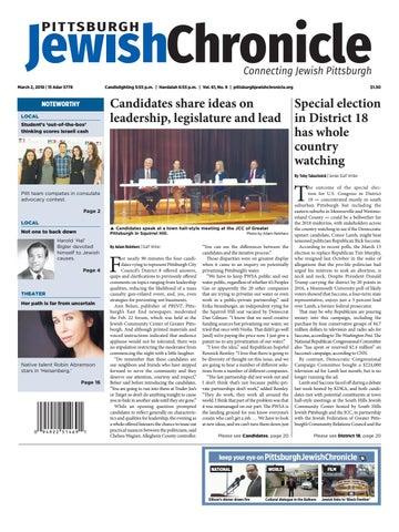 Pittsburgh Jewish Chronicle 3/2/2018 by Angela Leibowicz - issuu