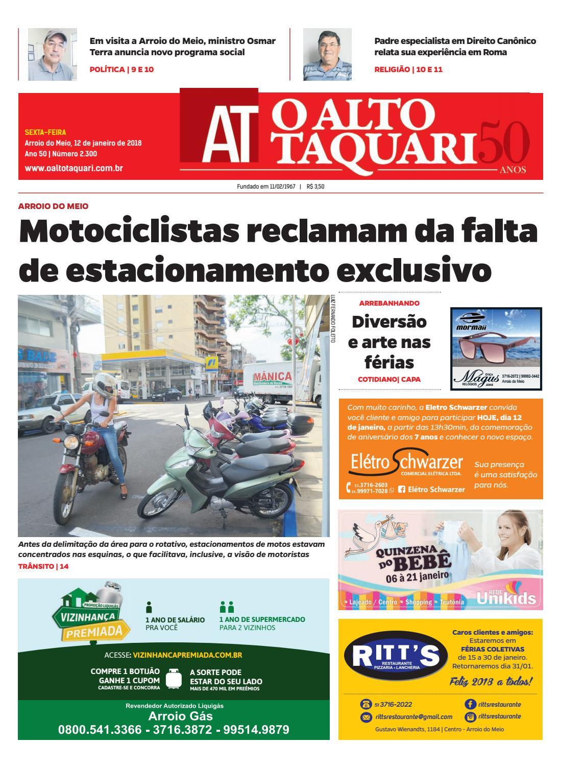 b59cc876d Jornal O Alto Taquari - 12 de janeiro de 2018 by Jornal O Alto Taquari -  issuu