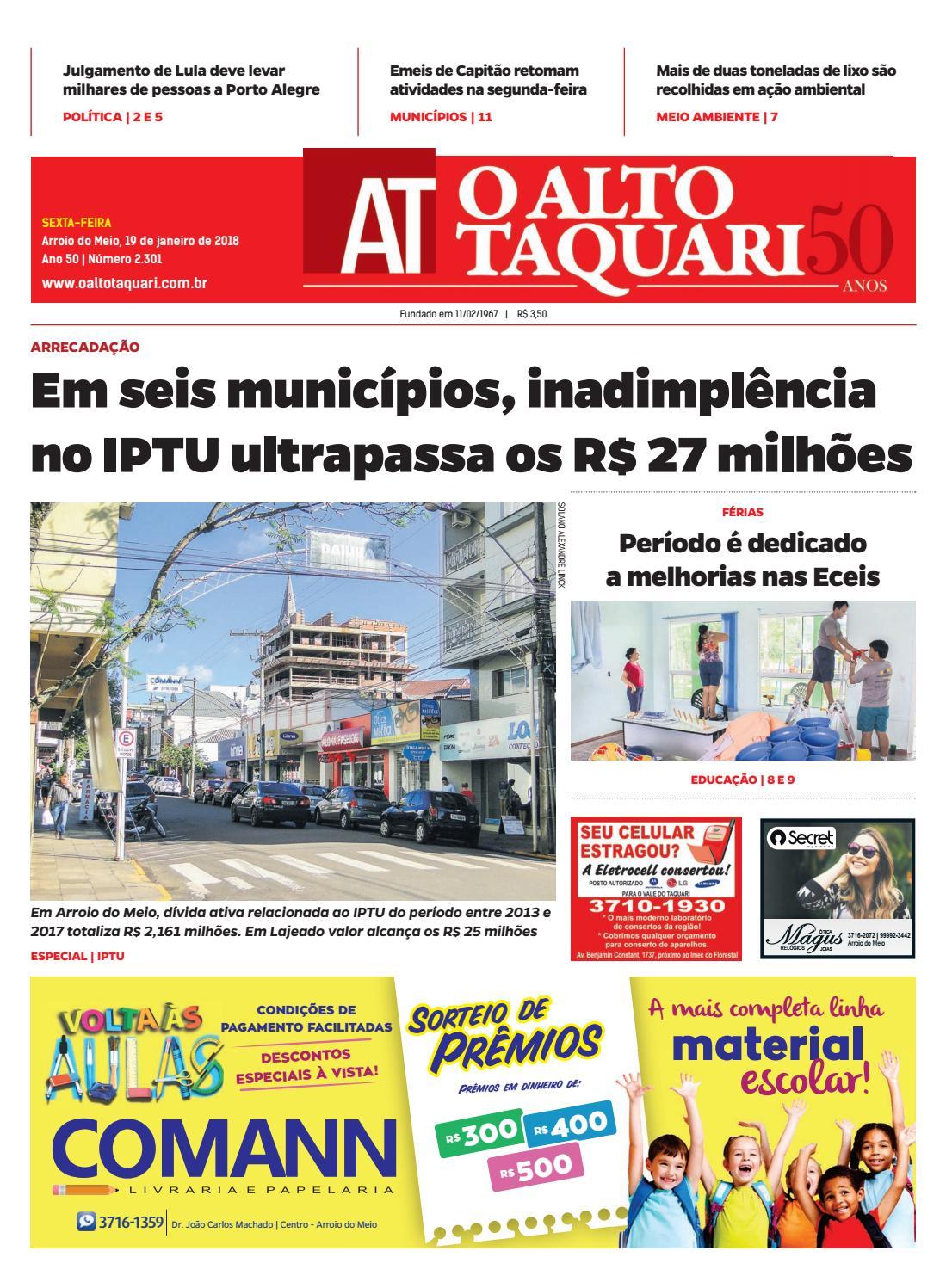 Jornal O Alto Taquari - 19 de janeiro de 2018 by Jornal O Alto Taquari -  issuu 43fc17e83f