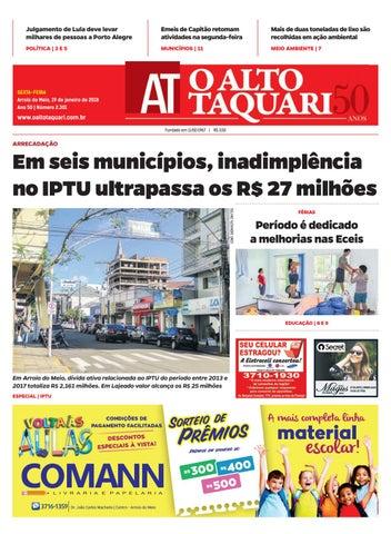 5f54cbfc8 Jornal O Alto Taquari - 19 de janeiro de 2018 by Jornal O Alto ...