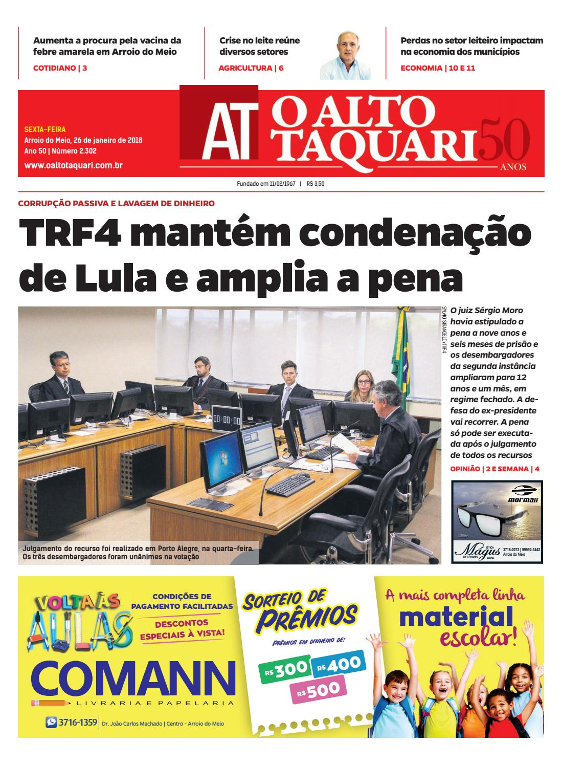 6c059d4e3eefd Jornal O Alto Taquari - 26 de janeiro de 2018 by Jornal O Alto Taquari -  issuu