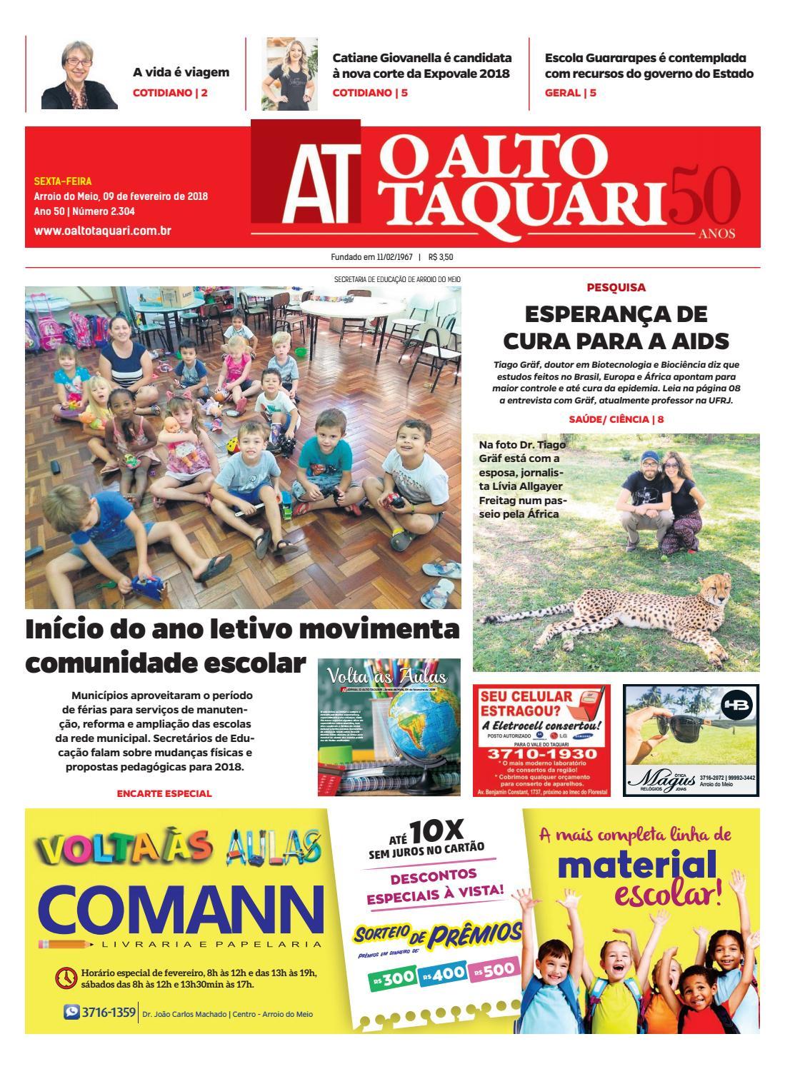 257a509bd Jornal O Alto Taquari - 09 de fevereiro de 2018 by Jornal O Alto Taquari -  issuu