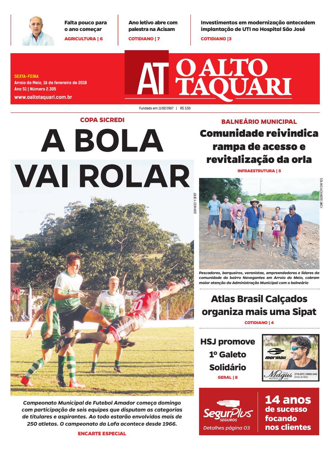 8c74a9e3b Jornal O Alto Taquari - 16 de fevereiro de 2018 by Jornal O Alto Taquari -  issuu