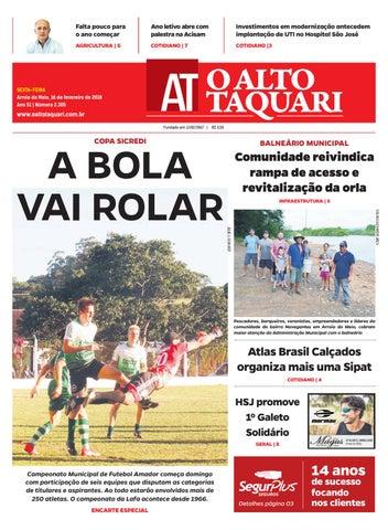 e4e9f78a42 Jornal O Alto Taquari - 16 de fevereiro de 2018 by Jornal O Alto ...