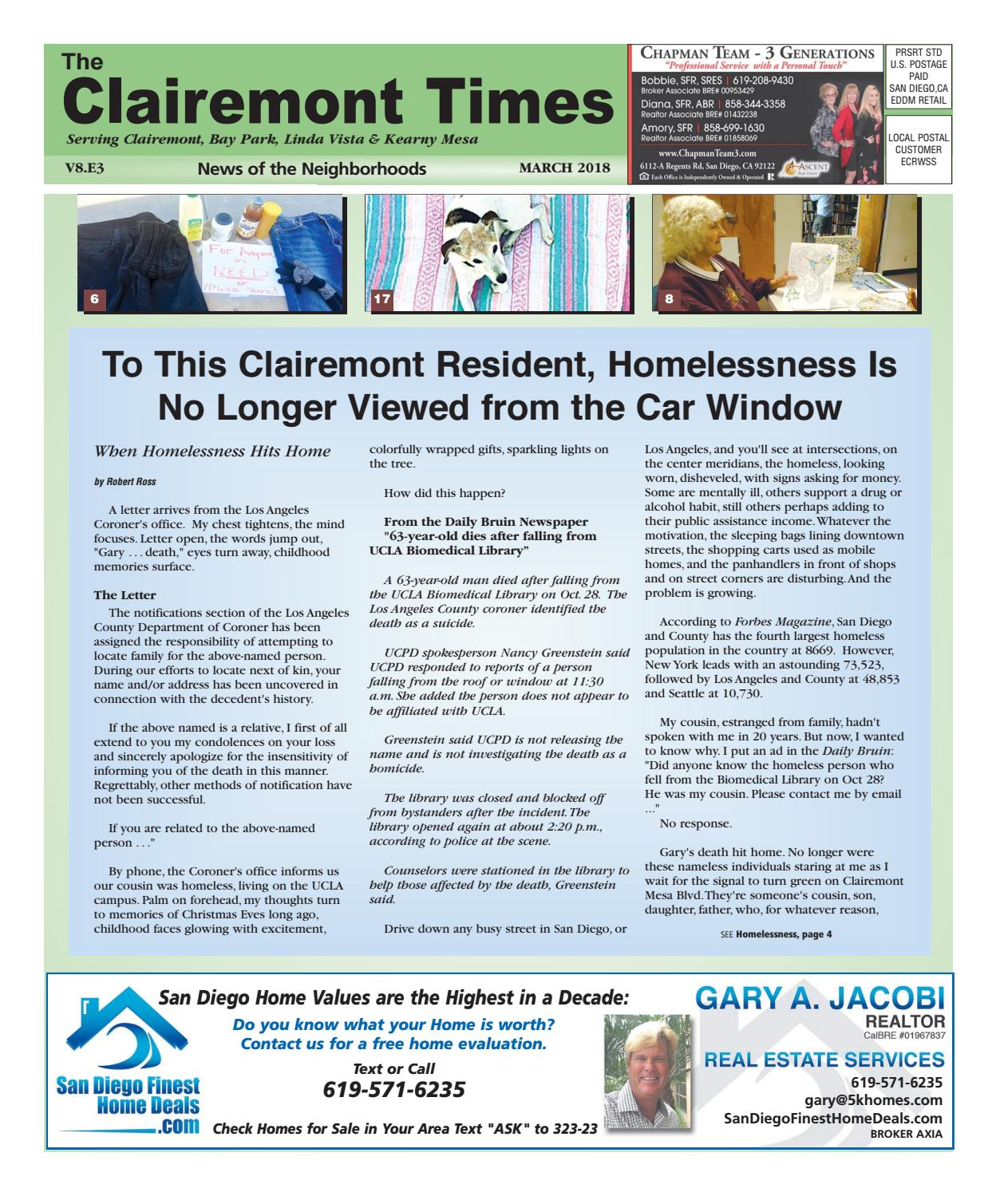 Clairemont Times March 2018 by Clairemont Times - issuu