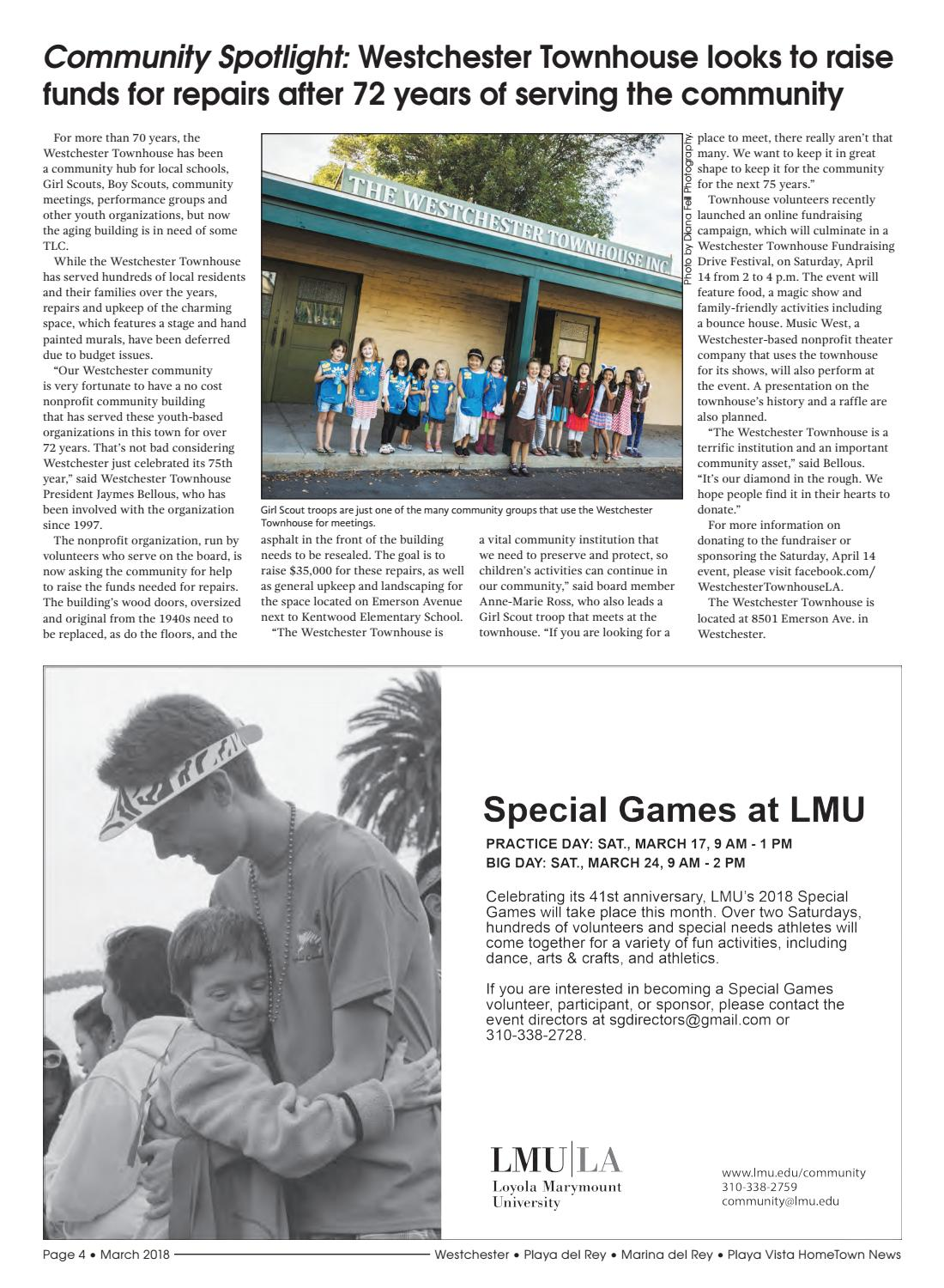 Westchester/Playa HomeTown News March 2018 edition by