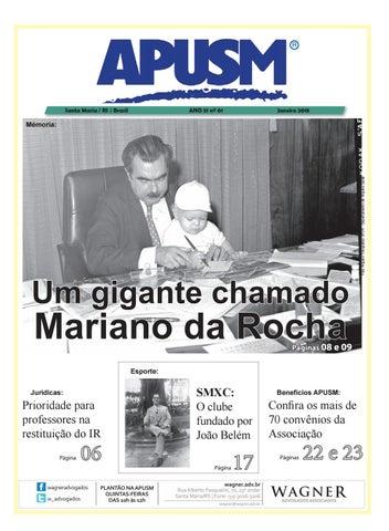 8b10df73c Jornal APUSM edição Janeiro e Fevereiro 2018 by Apusm Santa Maria ...