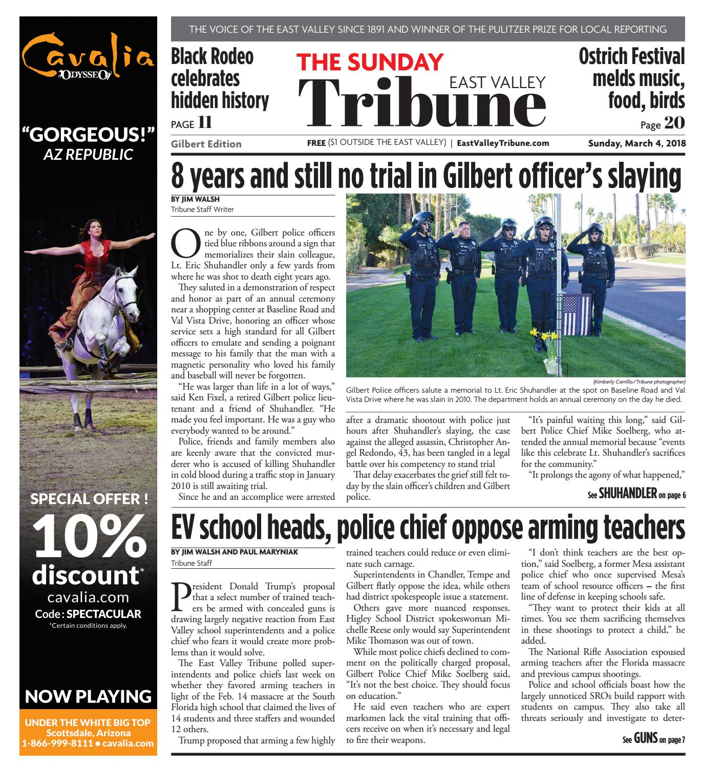 East Valley Tribune - Gilbert March 4, 2018 by Times Media