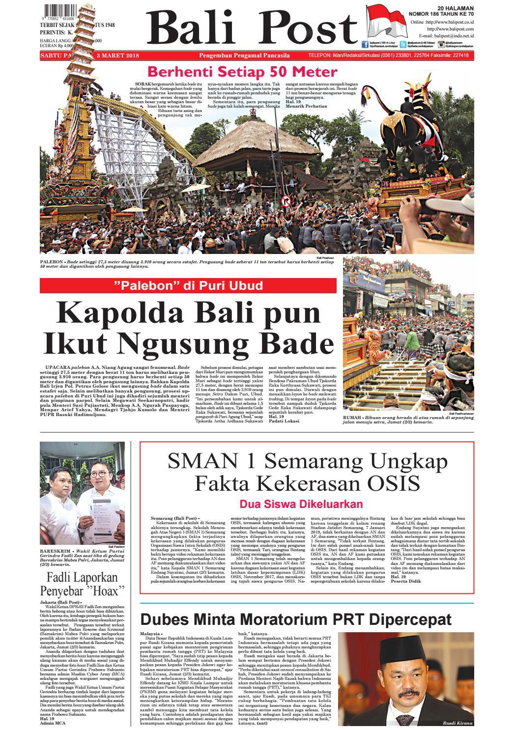 Edisi 03 Maret 2018 Balipostcom By E Paper Kmb Issuu Produk Ukm Bumn Jamu Instan Abah Aromahtrenggalek
