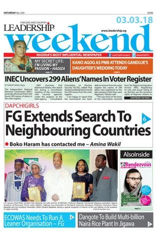 Leadership Newspapers ,3/3/2018 by Leadership Newspapers Nigeria - issuu