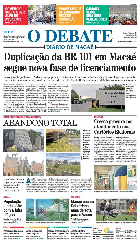 Edição 9506 03 04 05 03 2018 by O DEBATE Diario de Macae - issuu e9a83c45173aa