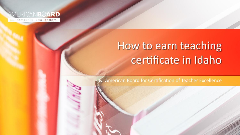 Online Teacher Certification In Idaho By Matt Smith Issuu