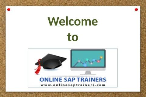 Fiori Online.Sap Fiori Training Online In India By Online Sap Trainers Issuu