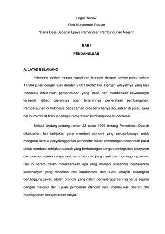 Alsa Lc Unsri 17 18 Dana Desa Sebagai Upaya Pemerataan Pembangunan Negeri By Alsa Indonesia Issuu