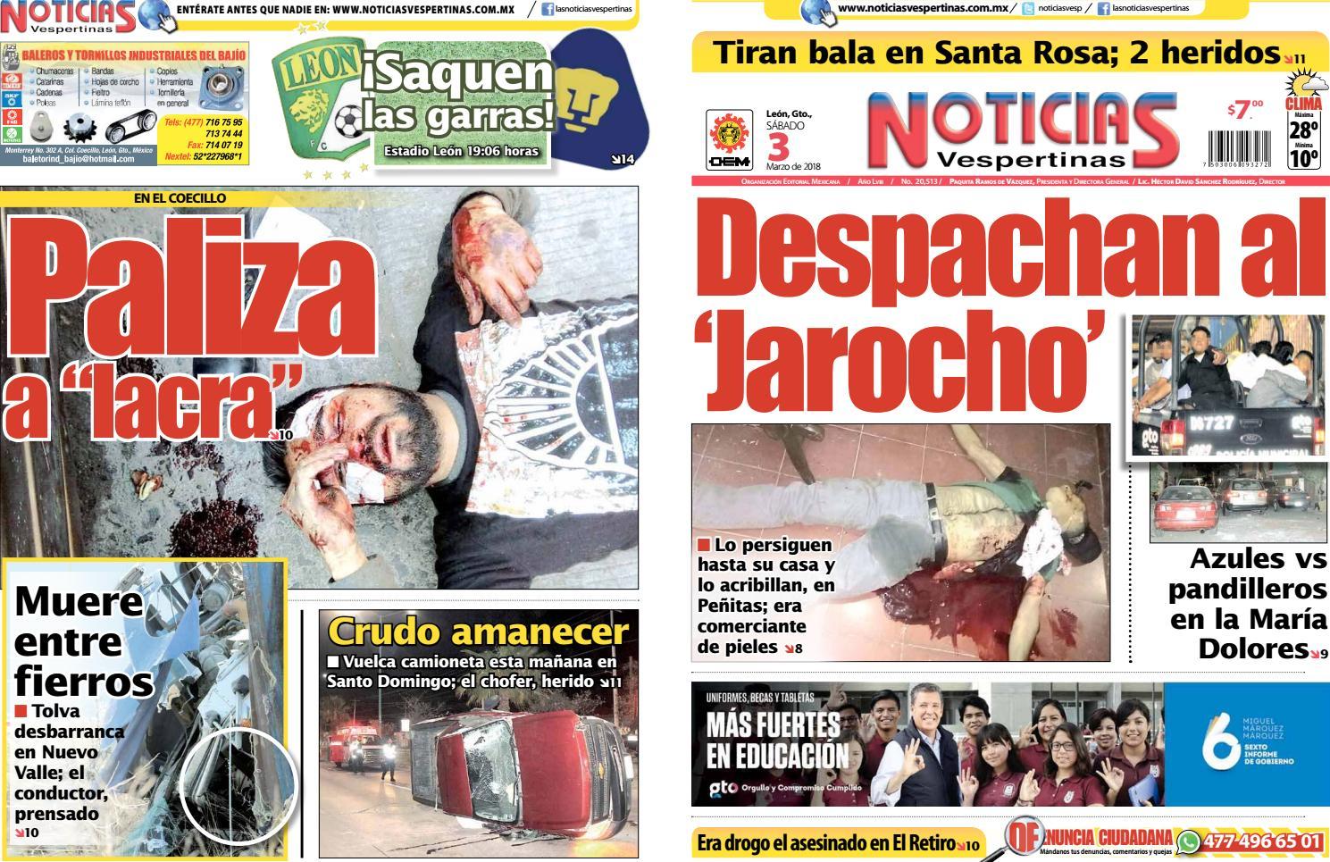 831ce6616603 Noticias Vespertinas 20180303 by El Sol de León - issuu