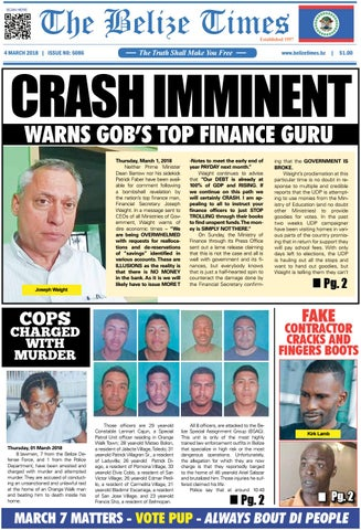 Belize Times March 4, 2018 by Belize Times Press - issuu