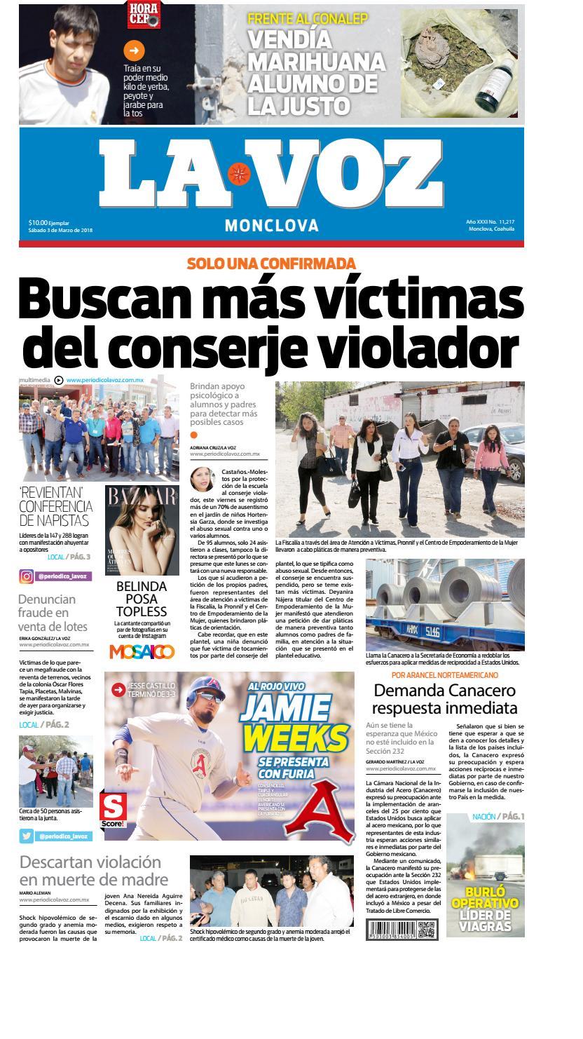 Periodicodigital3marzo by LA VOZ Monclova - issuu