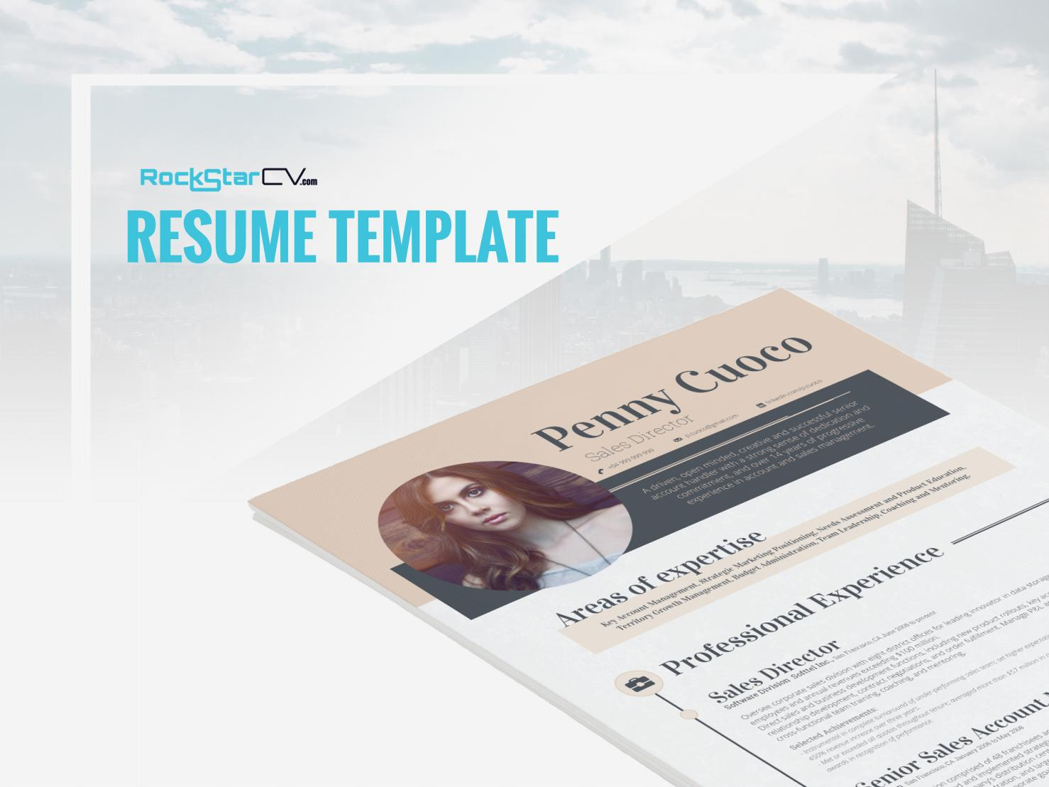 Carminia Resume template instant download, resume template ...