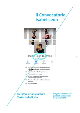 Page 83 of II Convocatoria: Isabel León