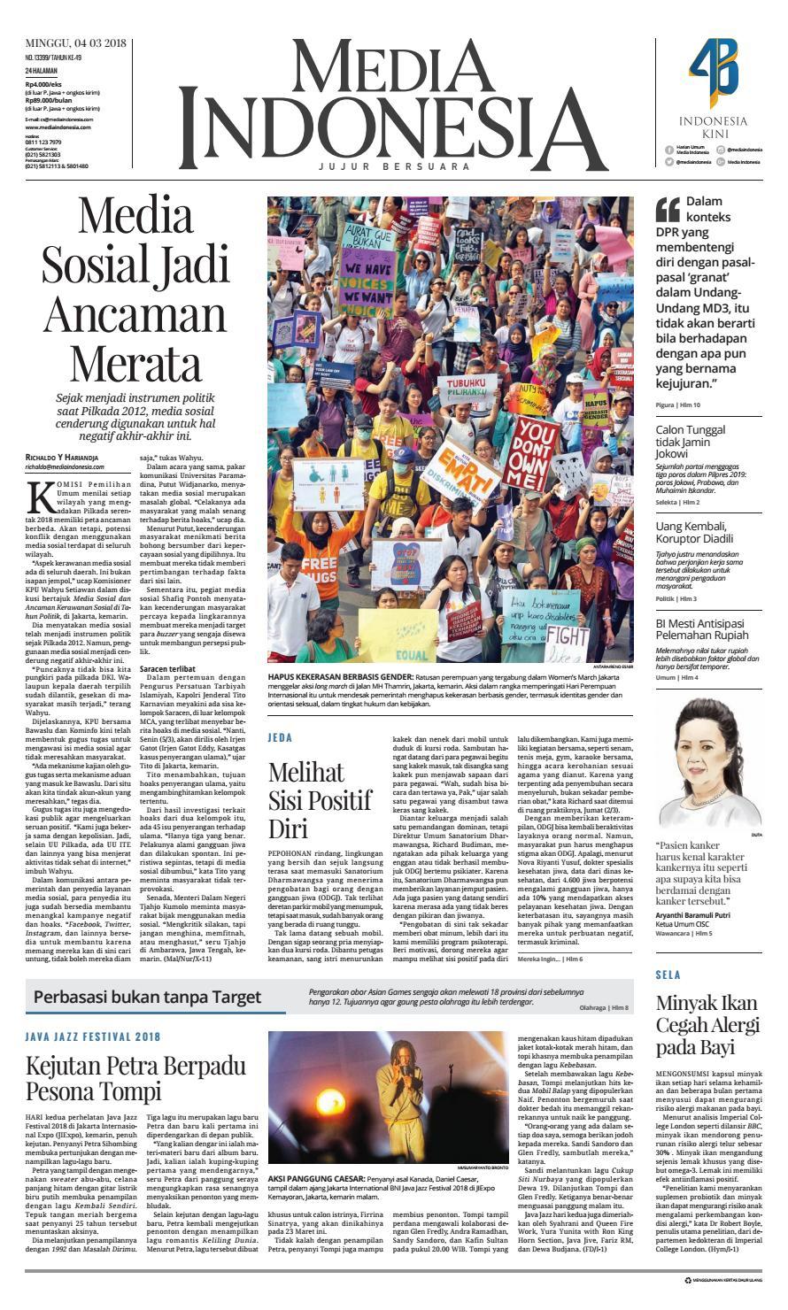 Media Indonesia 04 03 2018 04032018214638 By Oppah Issuu