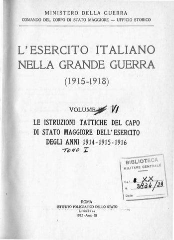 e7ae4592270d L ESERCITO ITALIANO NELLA GRANDE GUERRA- VOL.VI tomo 1 by Biblioteca ...