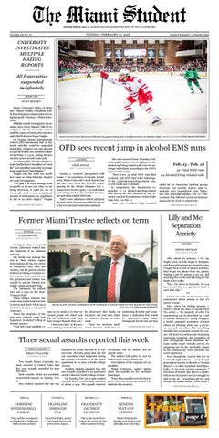 204a7760 The Miami Student | February 27, 2018 by The Miami Student - issuu